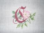 Buchstabe mit Rose klein