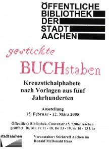 2005-02-15 Plakat Ausstellung